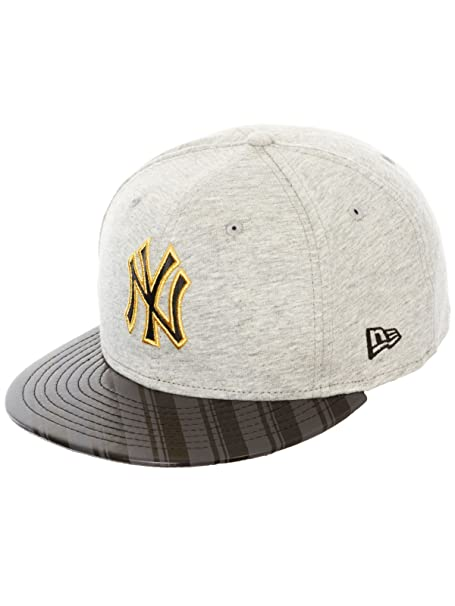 Gorra New Era New York Yankees - Jersey Stripe Gris-Negro-Graphite (7