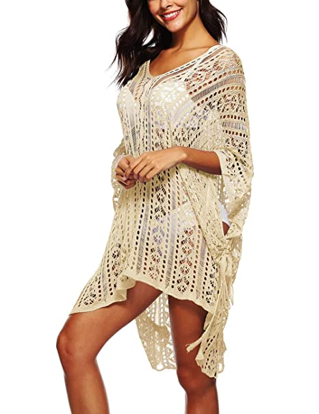 c1c0d418c392e Richboo Bathing-Suit-Cover-Ups for Women, Crochet Swimsuit-Cover-Up ...