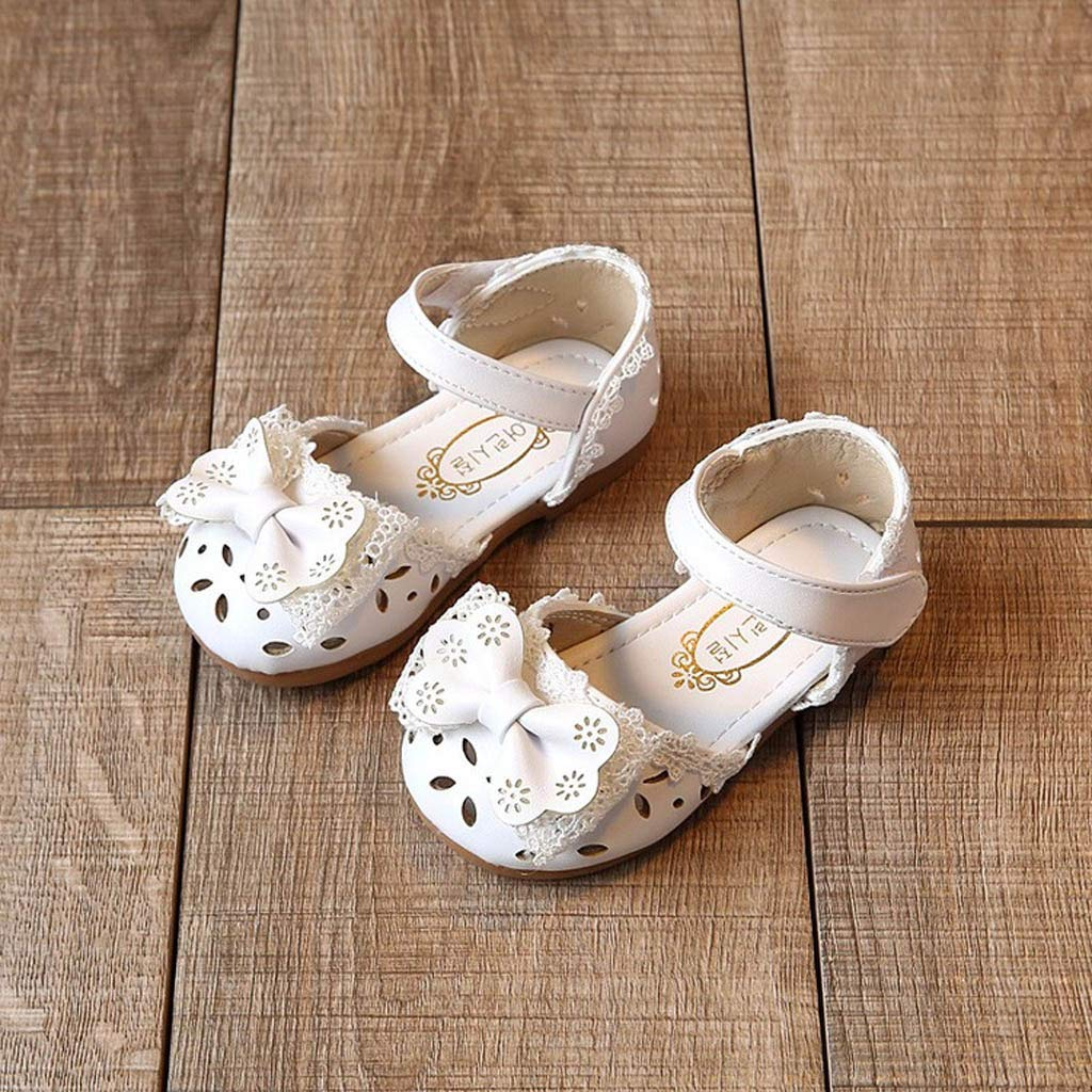 ❤️️ Mealeaf ❤️️ Toddler Infant Kids Baby Girls Elegant Bowknot Flower Princess Shoes Sandals 0 Month 6 Years