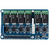 fosa Expansion Board with Relay Indicator Light/Relay Selection Jumper,6 Channel RPi Relay Module Relay Shields for Raspberry