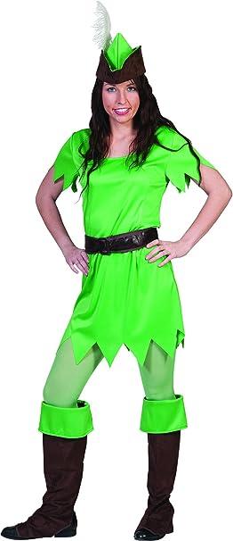 Fasching Fete De Peter Pan Disfraz Para Mujeres, S, verde: Amazon ...