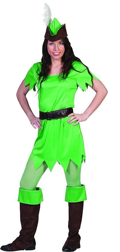Fasching Fete De Peter Pan Disfraz Para Mujeres, S, verde ...