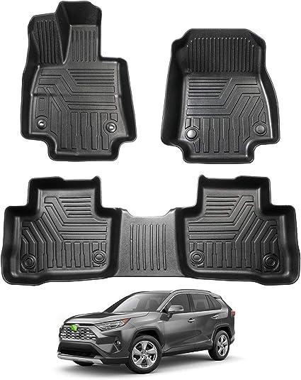 Amazon Com Powerty Floor Mats 2 Row Liner Set For Toyota Rav4