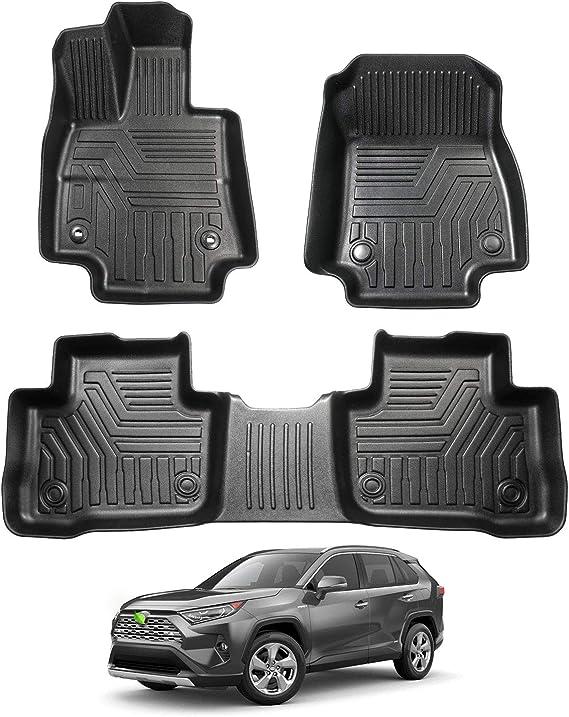 R5 AUTOMOTIVE Fits 2019-2021 Toyota RAV4 Custom Fit Cargo Liner Trunk Floor Mat Black All Models
