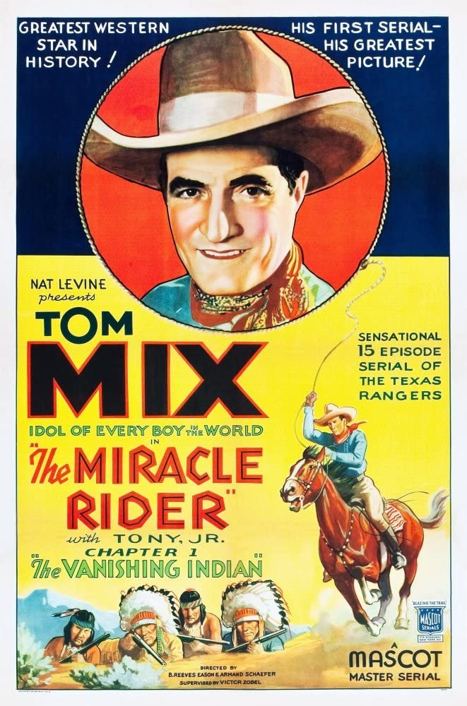 Posterazzi EVCMMDMIRIEC001HLARGE The Miracle Rider Tom Mix 1935 Movie Poster Masterprint, 24 x 36