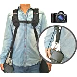 Coolway® professionale rapido Rapid shooting camera Sling dual-shoulder cinghia cinture per fotocamera digitale reflex Canon Nikon Sony Pentax Panasonic Olympus DSLR