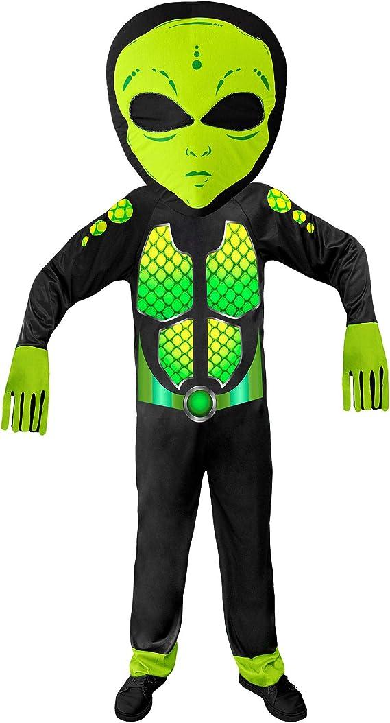 WIDMANN 01936 - Disfraz de Alien para niños, unisex, color negro y ...