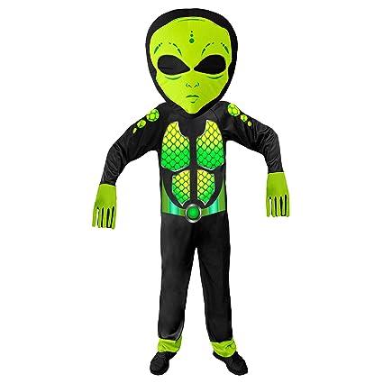 WIDMANN 01936 - Disfraz de Alien para niños, unisex, color ...
