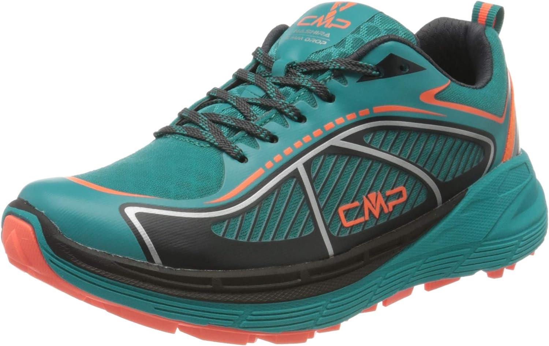 CMP - F.lli Campagnolo Nashira Maxi Wmn Trail Shoe, Zapatillas de Running para Asfalto para Mujer, Verde (Curacao/Red Fluor 32lc), 38 EU: Amazon.es: Zapatos y complementos