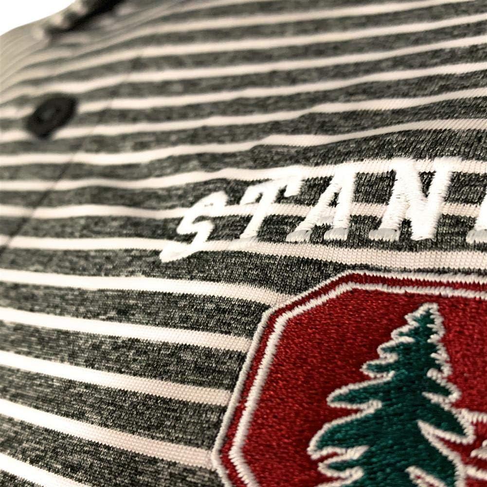 Champion Mens University of Utah Utes Polo Striped Staduim Stripe Polo Medium