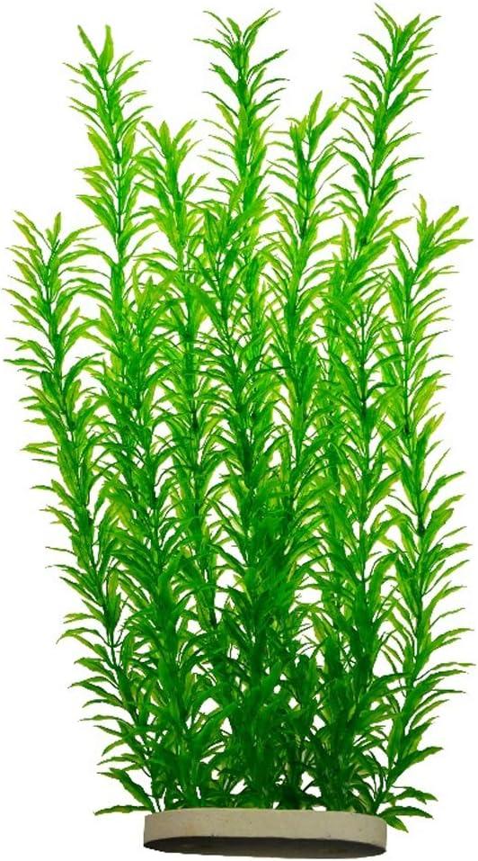 Lantian Green Grass Cluster Aquarium Décor Plastic Plants 21 Inches Tall CH0701