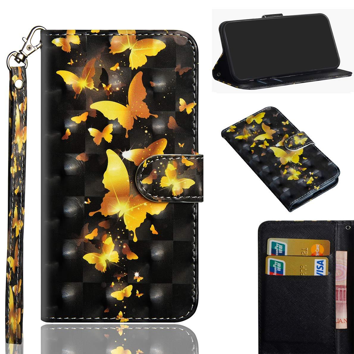 Sony Xperia XZ3 Hülle, SHUYIT Farbe Muster 3D PU Leder Tasche Cover Flip Wallet Case Bookcase Handyhülle Lederhülle Ständer Klapphülle Schutzhülle für Sony Xperia XZ3 Schale Etui Sony Xperia XZ3 Hülle