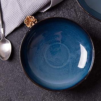 Tazón de Fuente de cerámica del Restaurante Tazón de Fuente Creativo de la Ensalada Platos tailandeses
