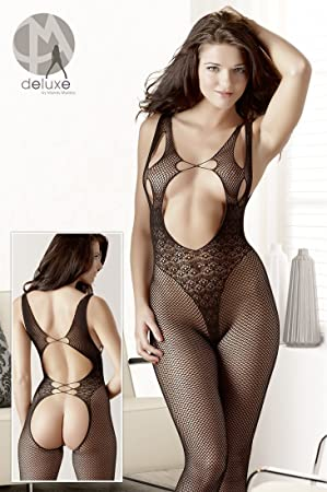 4cbe2a13be5 Cottelli exclusive Women s Lace Open Back Crotchless Bodystocking ...