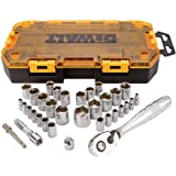 "DEWALT DWMT73804 Drive Socket Set (34 Piece), 1/4"" and 3/8"""