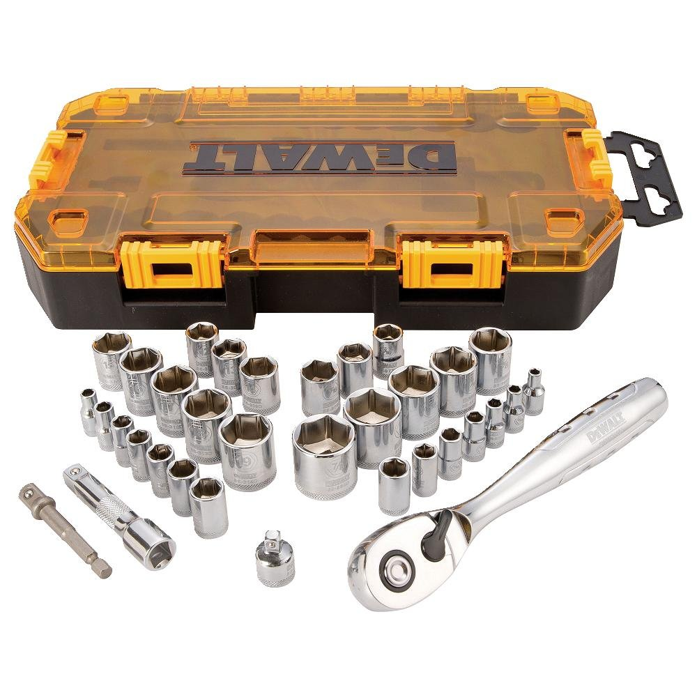 DEWALT DWMT73804 Drive Socket Set (34 Piece), 1/4'' and 3/8''