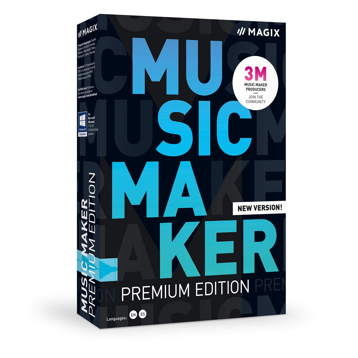front facing MAGIX Music Maker 2020