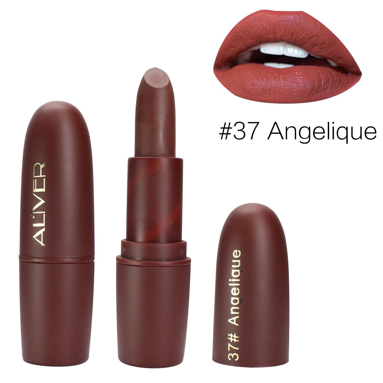 Matte Lipstick, ALIVER 6 Colors Lipstick Set, Long Lasting Lipstick, Nude and Natural Dark Matte Lipstick Non-Stick Cup for Lips Makeup by ALIVER (Image #4)