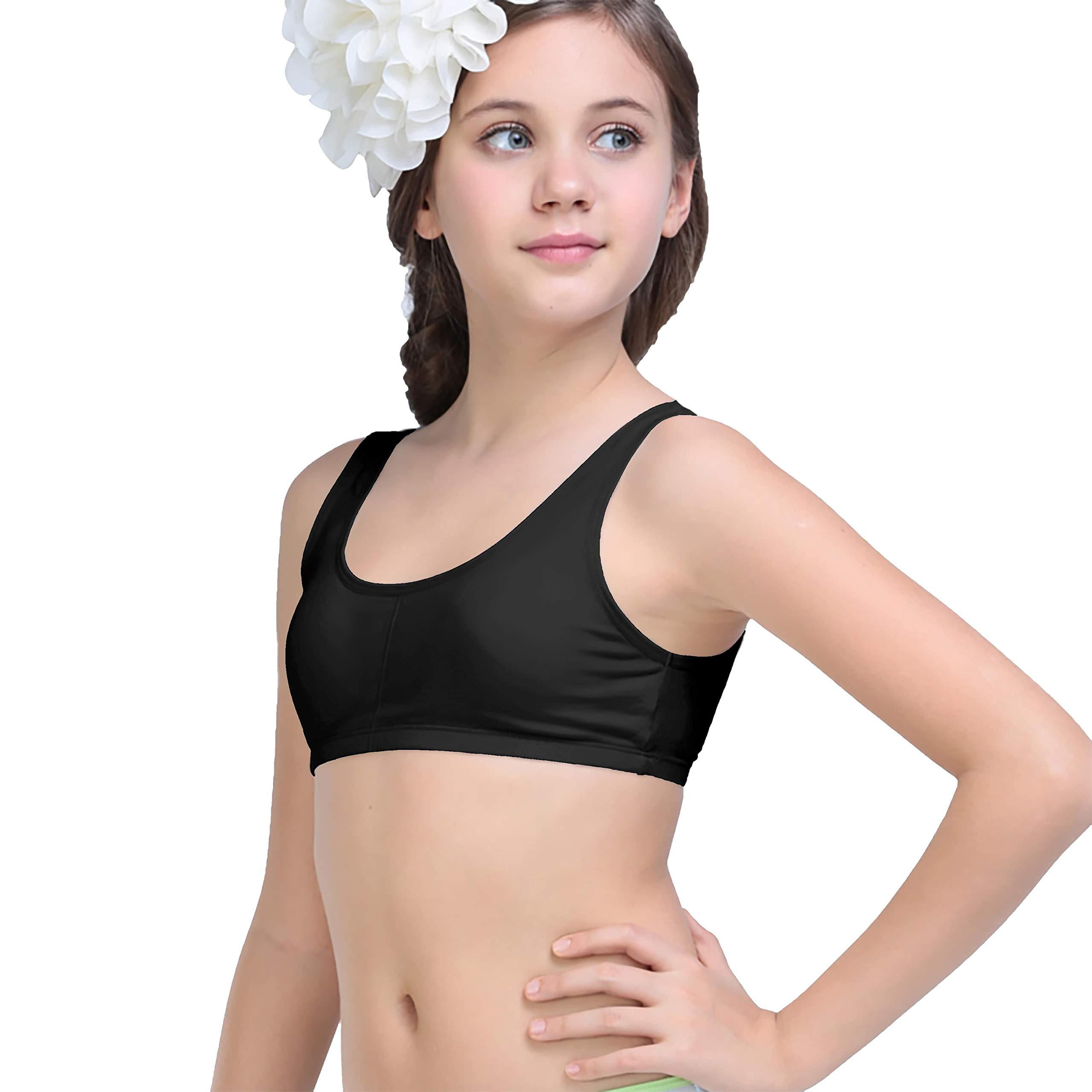 ADMIRE Girls Cotton Sport TOP PACKOF2 (11-12 Years, Black) (B07QBLFZWY) Amazon Price History, Amazon Price Tracker