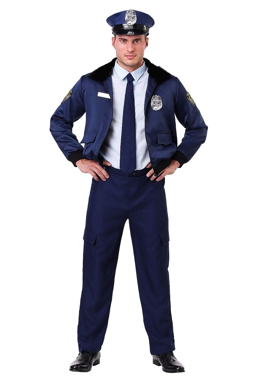 Deluxe Blau Cop Kostüm für Herren - XL