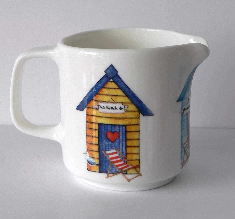 Beach hut Milk jugs Choice of 3 Sizes Or Sugar Bowl (Small 4oz) crackinchina