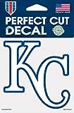 "MLB Kansas City Royals 93917010 Perfect Cut Color Decal, 4"" x 4"", Black"