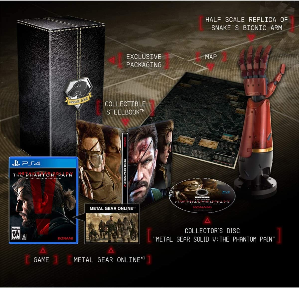 Metal Gear Solid 5 The Phantom Pain Collectors Edition ...