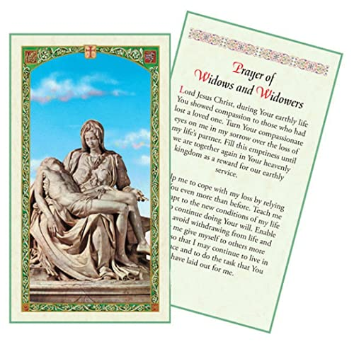 Prayer of Widows and Widowers Holy Card Blessed By His Holiness Pope Francis