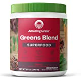 Amazing Grass Greens Blend Superfood: Super Greens Powder with Spirulina, Chlorella, Beet Root Powder, Digestive Enzymes & Pr