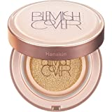 Hanskin Blemish Cover Conceal Cushion, Full Coverage Dewy Glow Cushion Foundation Case with SPF 50 +, Hyaluronic Acid…