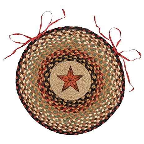 Barn Star Braided Jute Western Chair Pad - Southwestern Furniture  sc 1 st  Amazon.com & Amazon.com | Barn Star Braided Jute Western Chair Pad - Southwestern ...