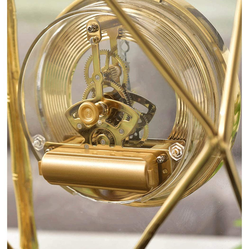 HONGNA Table Gear Rotating Clock Clock Seat Living Room Bedroom Clock Decoration Creative Retro Table Clock Titanium Body (Size : 17227.5cm) by HONGNA (Image #7)