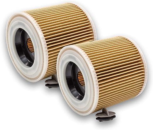vhbw 2x Filtros de cartucho para aspiradoras, robot aspiradora, limpiador multiusos Kärcher NT 27/1 ME Professional, NT 48/1 TE Professional: Amazon.es: Hogar