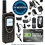 BlueCosmo Iridium Extreme Satellite Phone Bundle - Only Truly Global Satellite Phone - Voice, SMS Text Messaging, GPS…