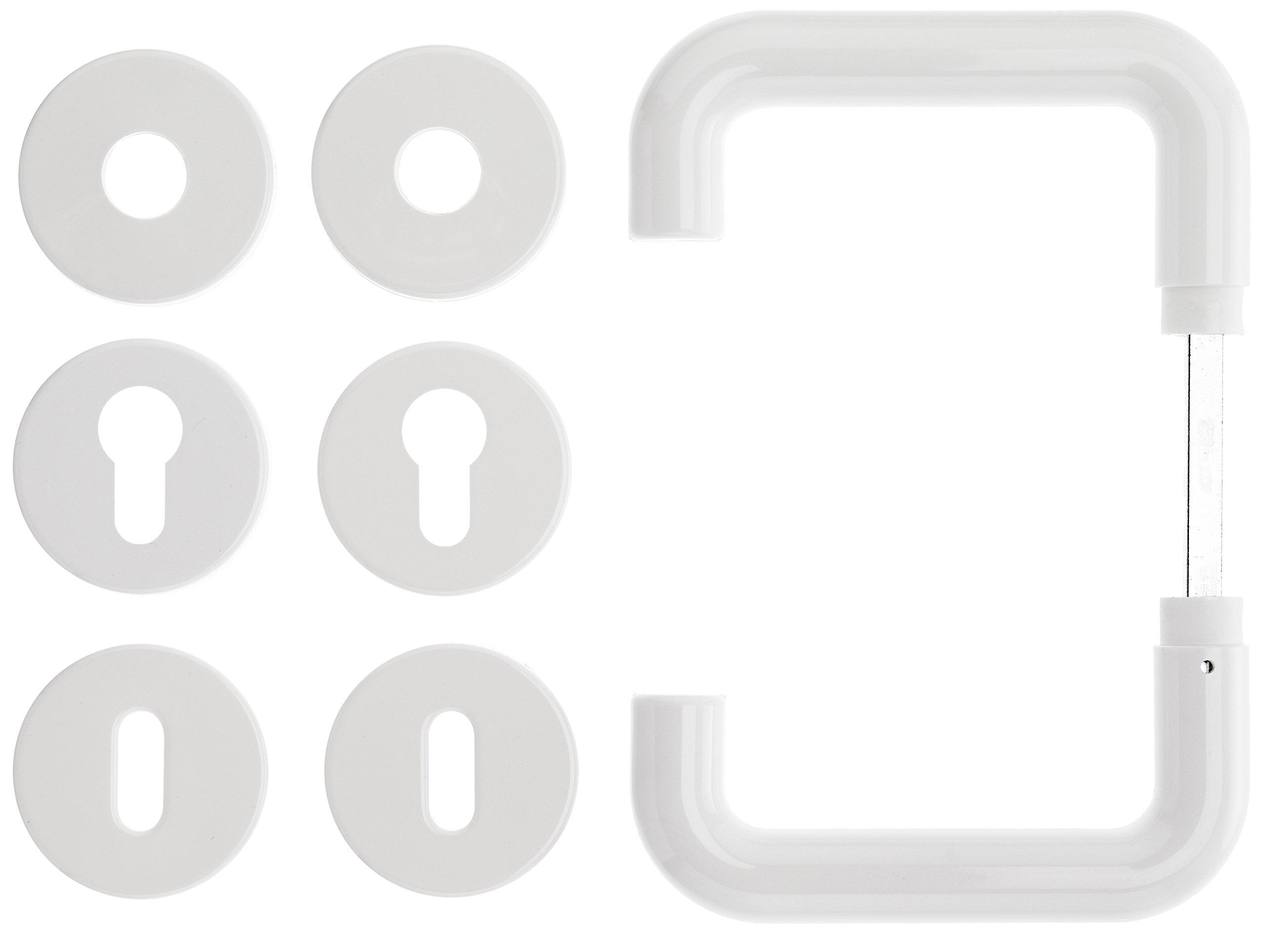 Roro Button Classic Rosette, White, 200010