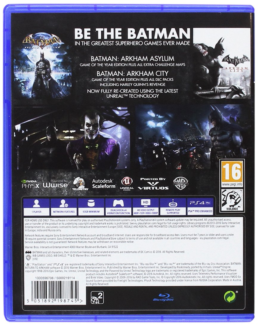 Batman: Return To Arkham [Importación Inglesa]: playstation 4 ...