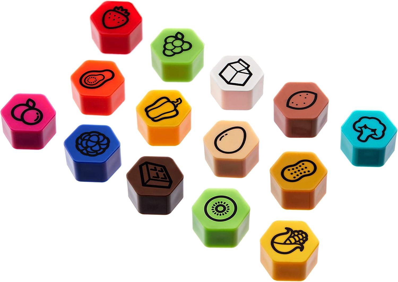 beesket Refrigerator Magnets Set of 14 Iconic Fridge Magnets, Kitchen Magnets, Door Magnets, Wall Magnets, Fruit Magnets, Office Magnets, Home Decor, Kitchen Decor, Office Decor (Series 1, 14)