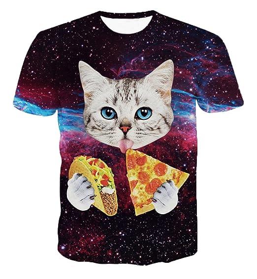 3D Cat T Shirt Printed Animal Women Men Tee Shirt Casual Unisex 3D T Shirt