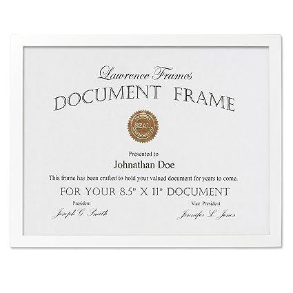 white certificate frame - Yeni.mescale.co