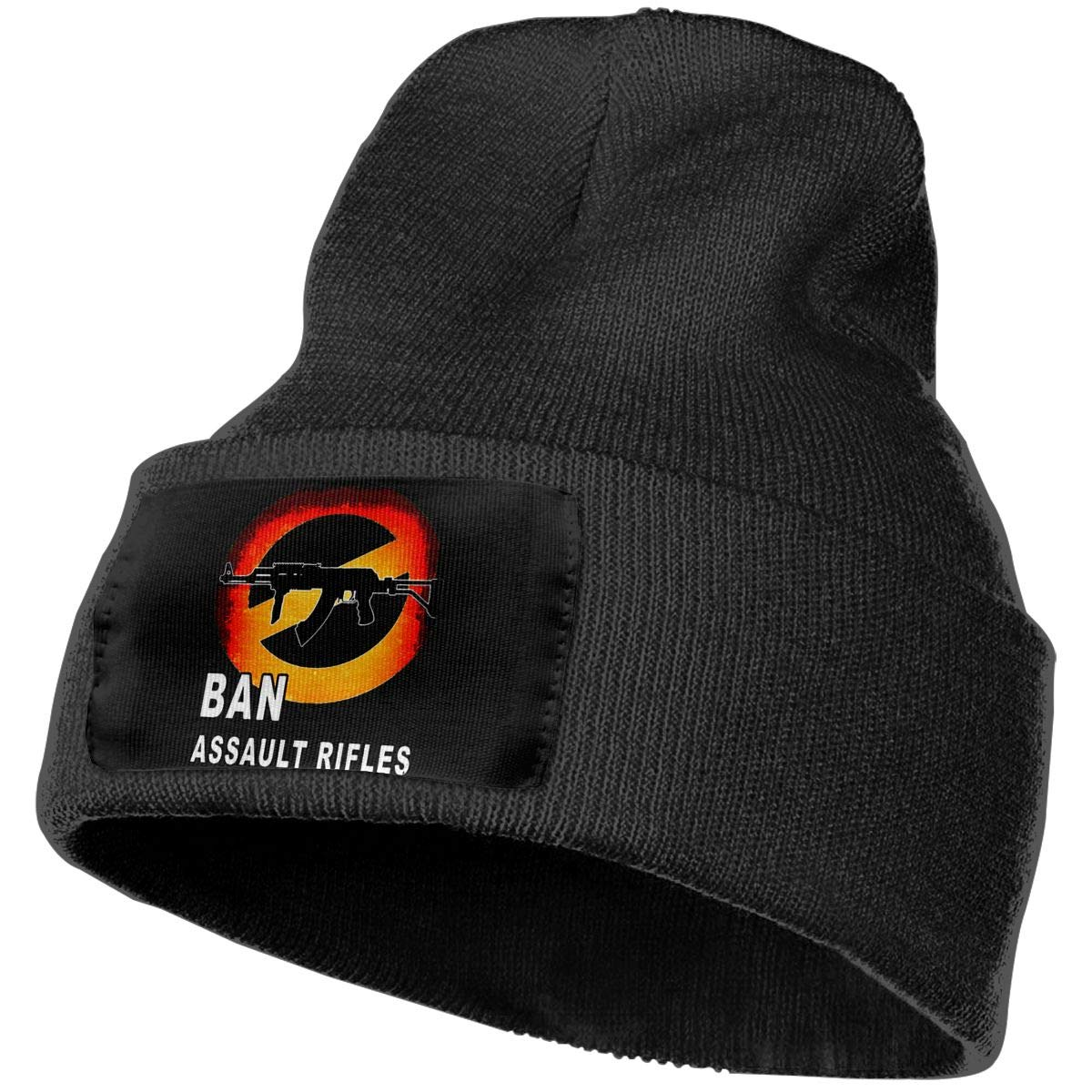 Men//Women Ban Assault Rifles Outdoor Warm Knit Beanies Hat Soft Winter Knit Caps