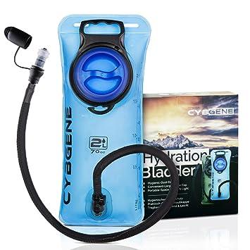 Bolsa de Hidratación, CybGene Bolsa de Agua Portátil de 2 Litro, con una Boca