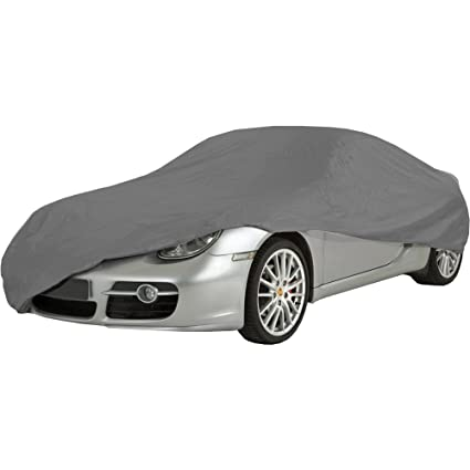 Heavy Duty Double Stitched UV Protection Medium Car Cover 100/% Waterproof