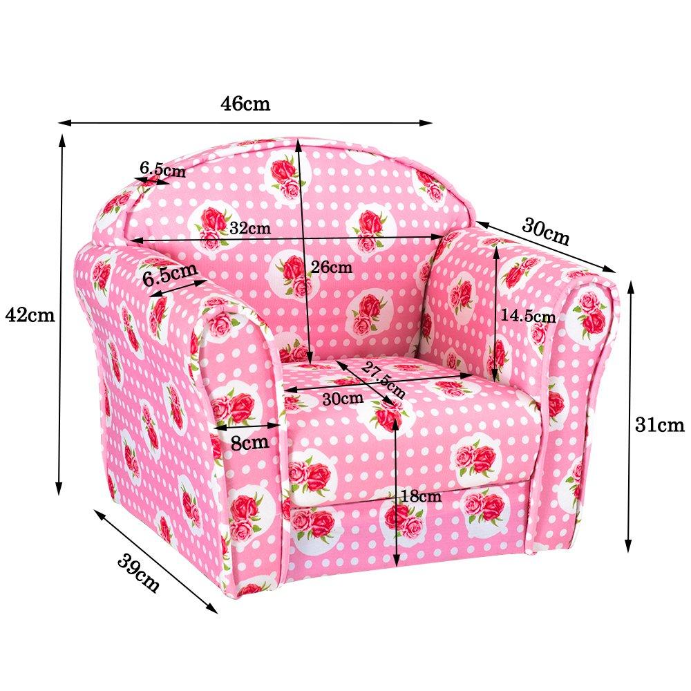 Kids Armchair Childrens Tub Chair Pink Rose Girl Boy Mini Armchair Nursery Seat Stool Seating Chair Sofa for Bedroom Playroom