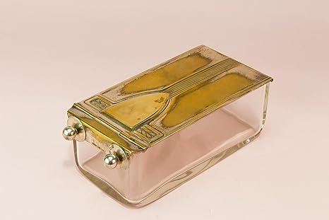 WMF y hukin & Heath chapados en plata de ley cristal y mantequilla Plato caja Art