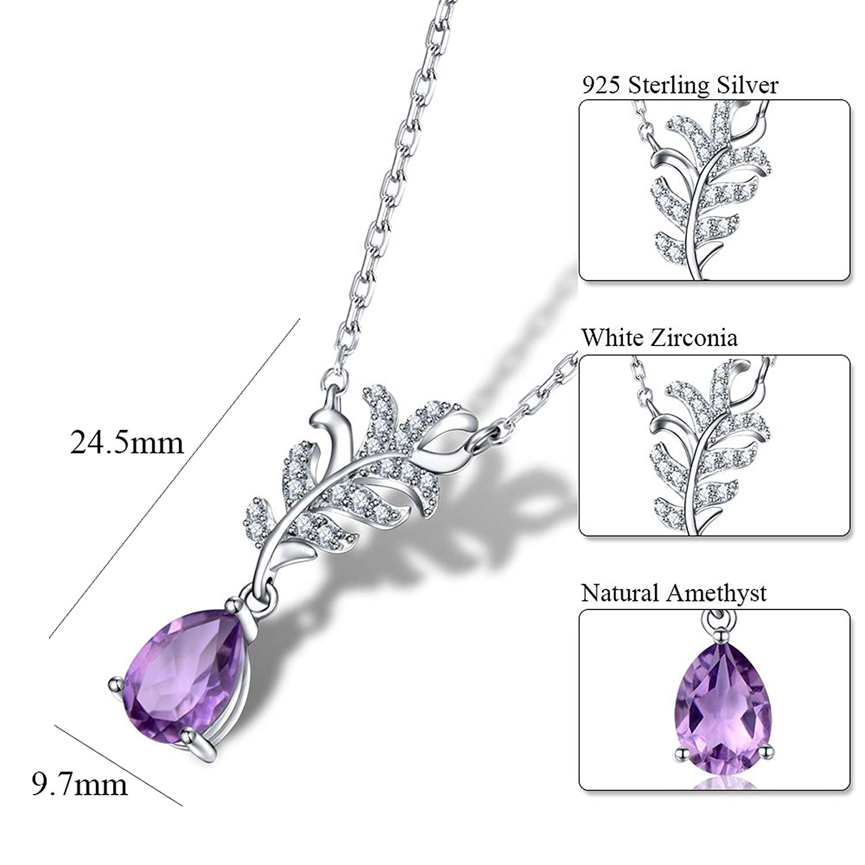 MMC Silver Necklaces 0.9ct Amethyst Womens Pendants
