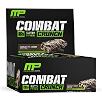 Muscle Pharm Mezcla de Proteínas y Aminoácidos Combat Crunch, Cookies and Cream, 12 Bar