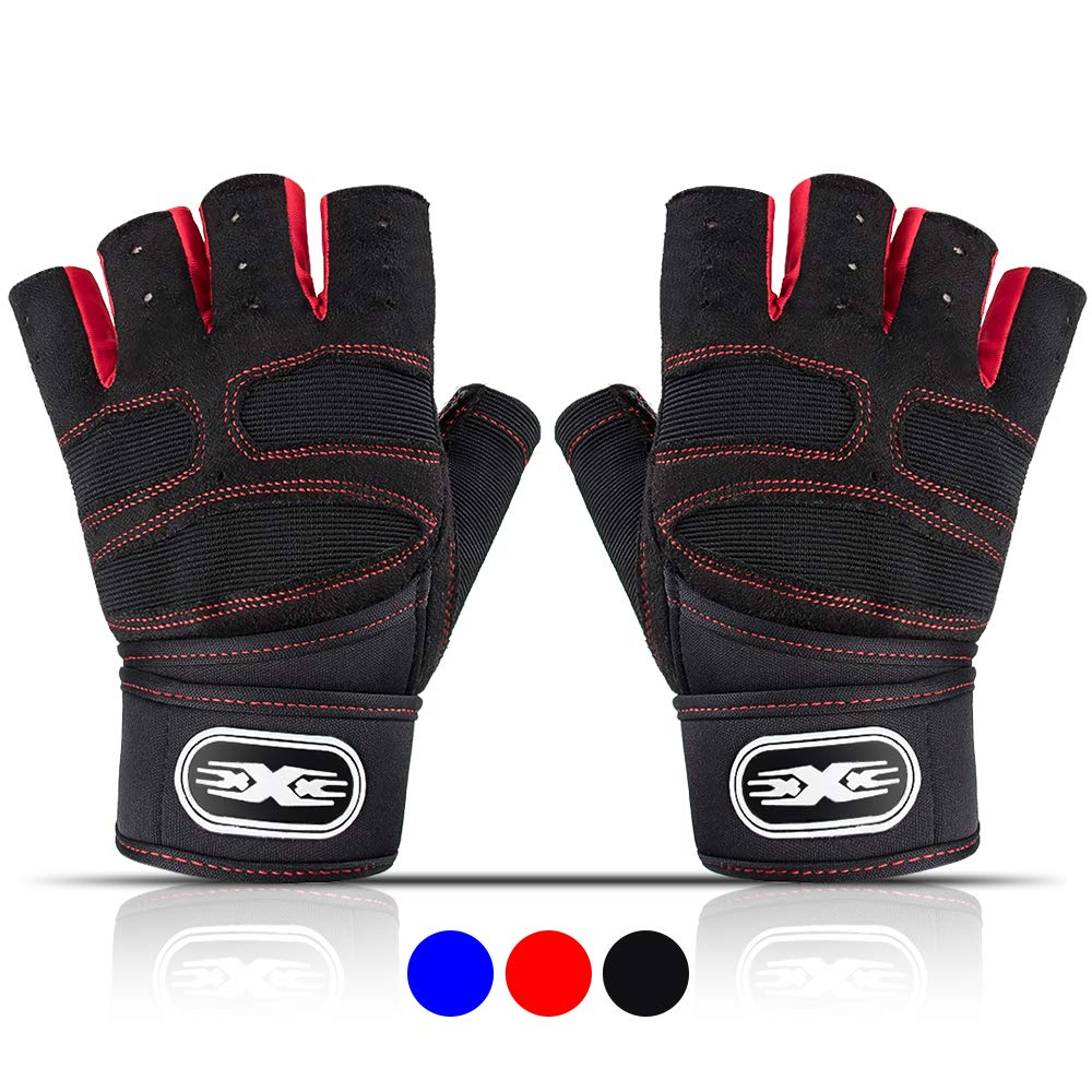 Full Palm Protection Fisi Workout Gloves for Men /& Women Gym Weight Lifting Gloves with Wrist Wrap Support Great for Fitness Exercise Breathable /& Non-Slip Training Dumbbells Climbing Crossfit