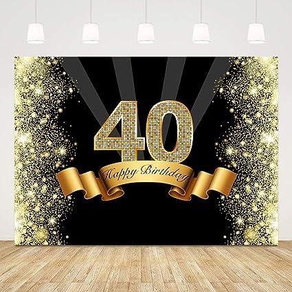 Fondo para 40 cumpleaños Bokeh con purpurina dorada para 40 ...