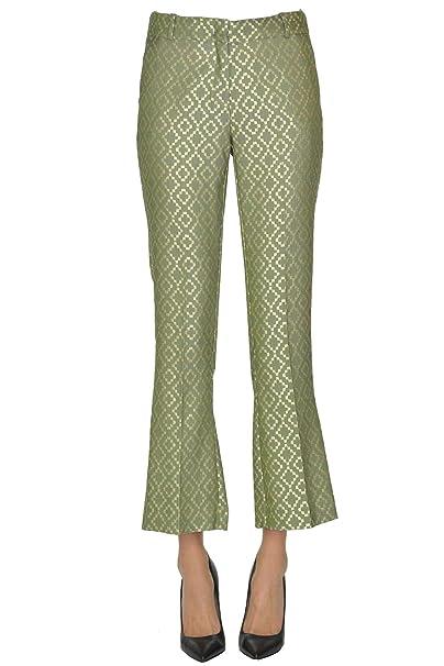 new style 7a7b2 db488 KILTIE Pantaloni Donna MCGLPNC000005004E Poliestere Verde ...