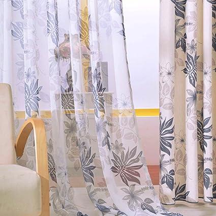 Curtain Living Room,Linen Semi-Shading Living Room Study Bedroom 1 Piece-O